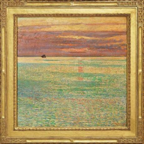 """Sunset at Sea"" is part of ""American Impressionist: Childe Hassam and the Isles of Shoals"" at Peabody Essex Museum."